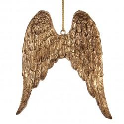 Závěsná dekorace - zlatá křídla, rytá